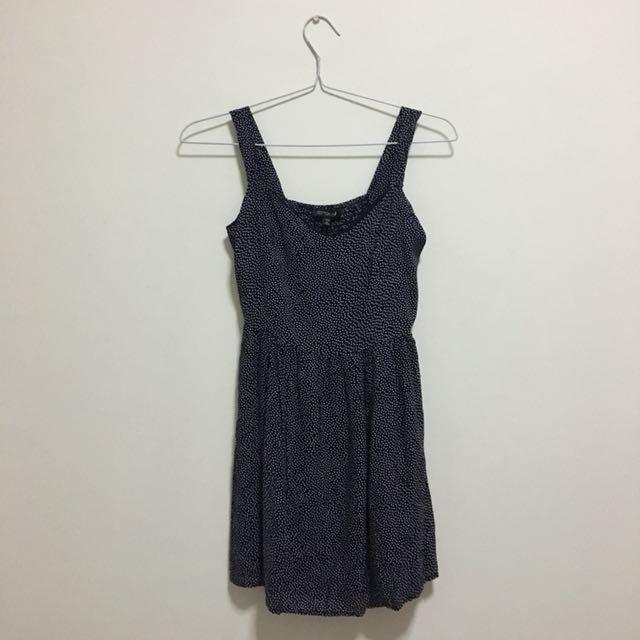 Cotton on polkadot navy dress