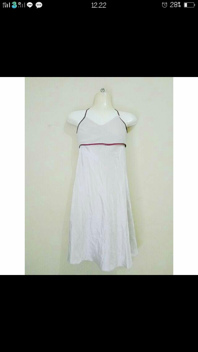 Cream Midi Dress