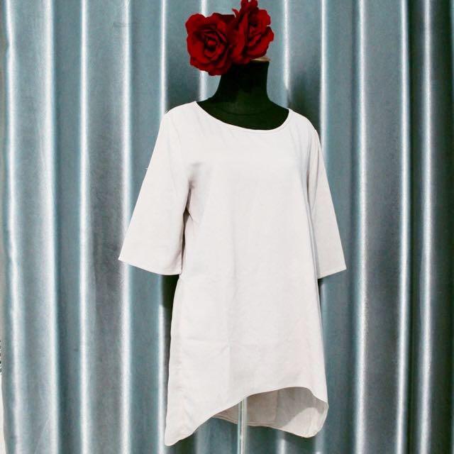 Cream Top / Mini Dress