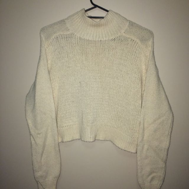 Cream white sweater