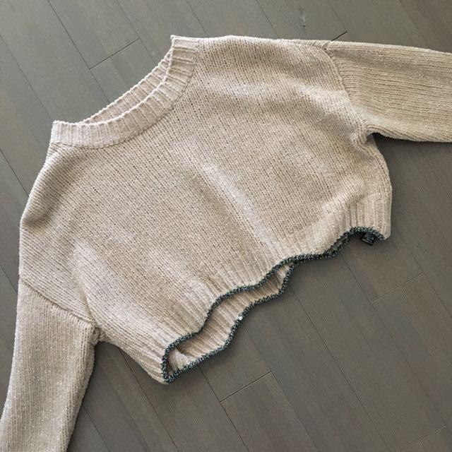 Cropped Sparkly Zara Sweater Knitwear