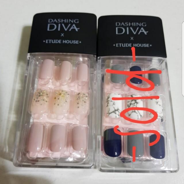 DASHING DIVA X ETUDE HOUSE Magic Press Gel Nail Tips/ Nail Stickers ...