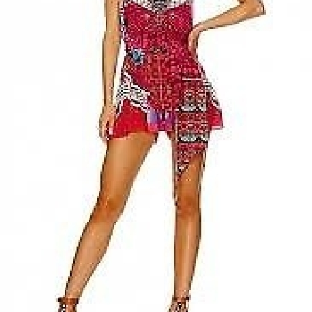 CAMILLA FRANKS DESERT DISCOTHEQUE SHORT PLAYSUIT WITH TIE FRONT