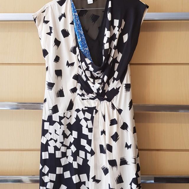 Diane von Furstenberg Cowl-neck Silk Dress