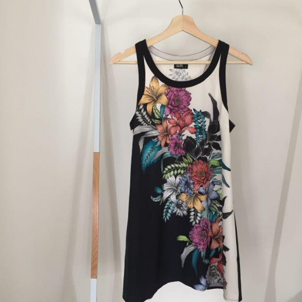 Dotti Botanical Print Mini Dress / Summer Dress