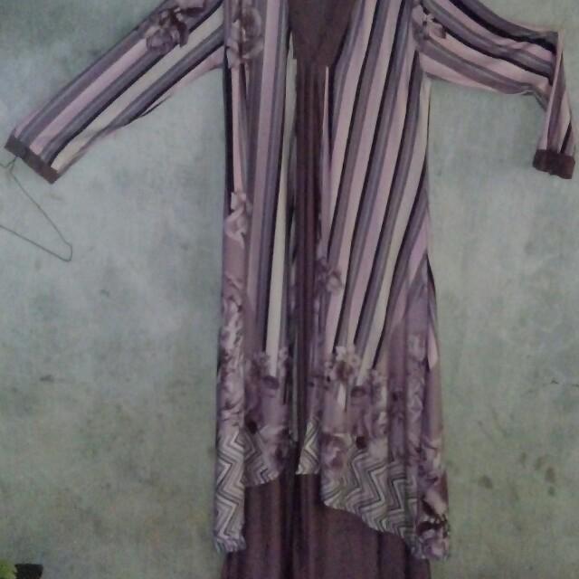 Dress gamis spandek korea