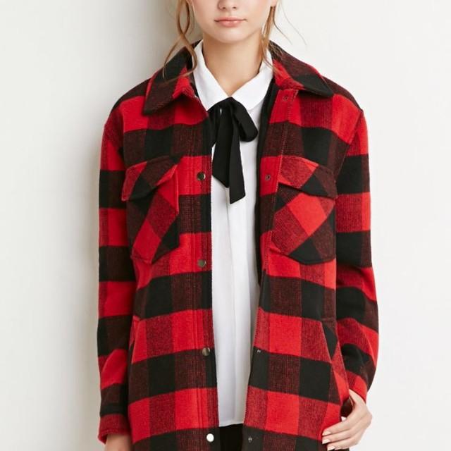 Forever 21 plaid coat