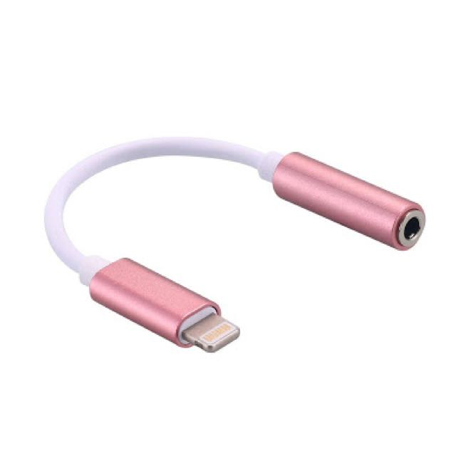 Generic Lightning to 3.5mm Jack Adapter/Adaptor in Rose Gold