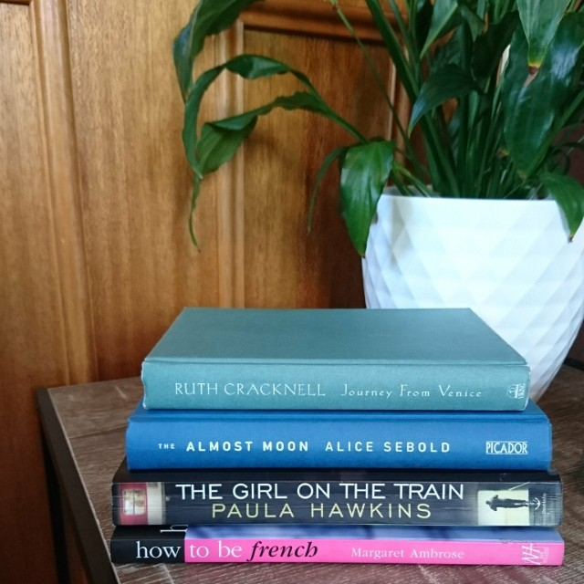 Girl on the train,  How to be French, The almost moon, Journey from Venice
