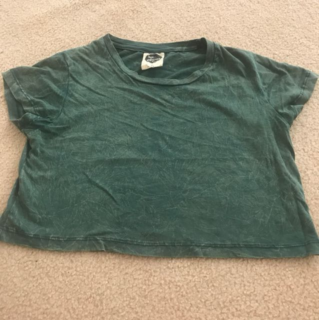 Green all about eve cropped Tshirt