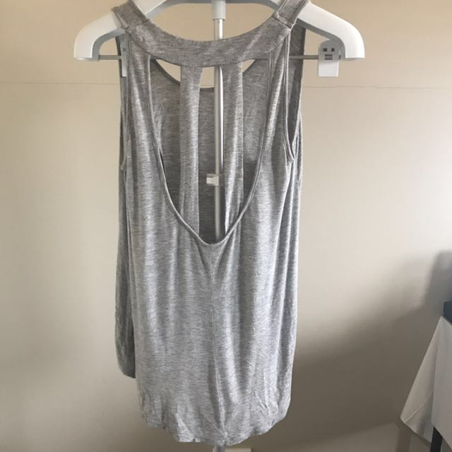 Grey Backless Singlet