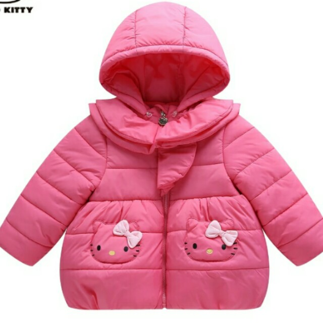 f12021e2f CLEARING Authentic HELLO KITTY Girl Puffer Jacket, Babies & Kids ...