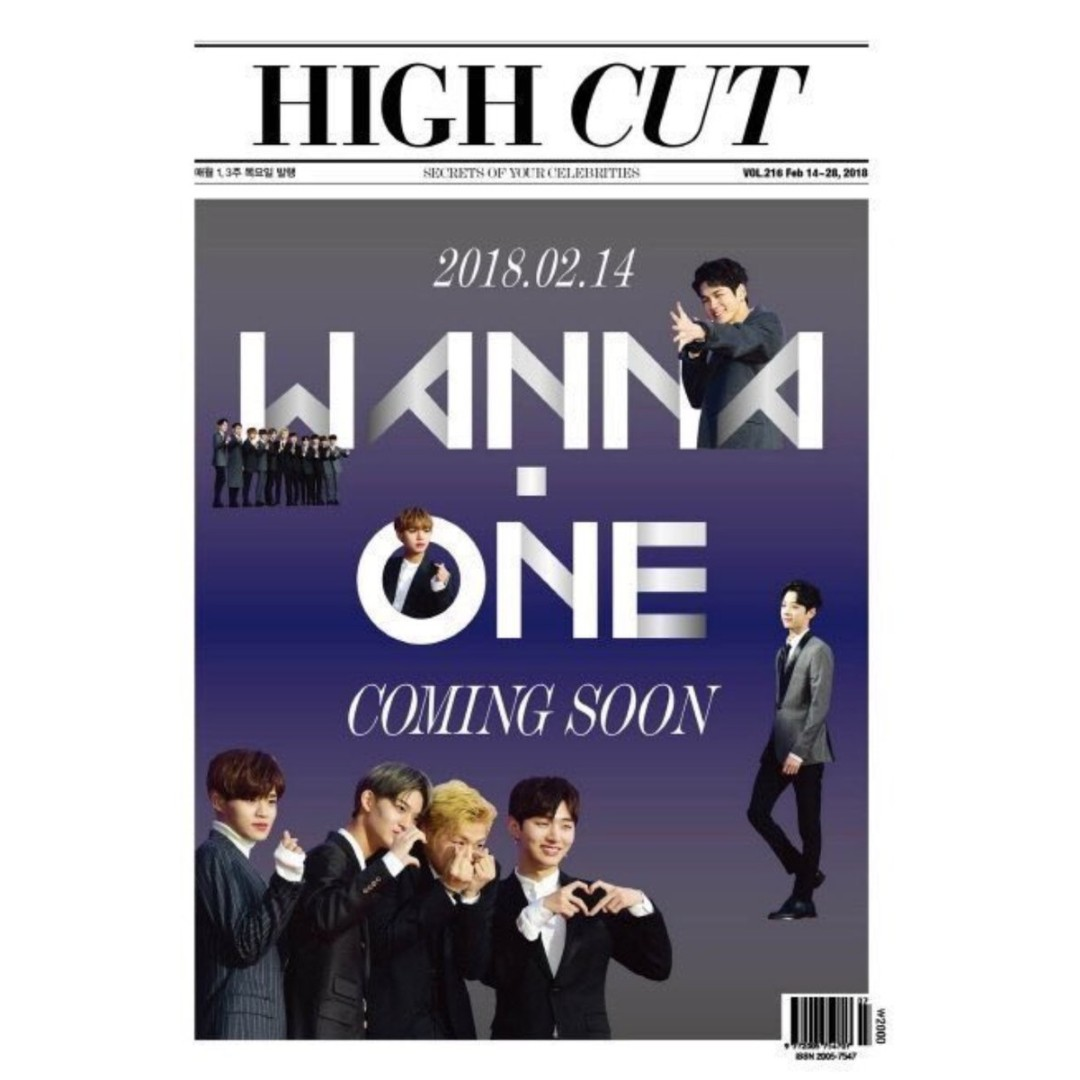 [PRE-ORDER] HIGH CUT VOL. 216 WANNA-ONE TYPE A/TYPE B (RELEASE FEB 14)