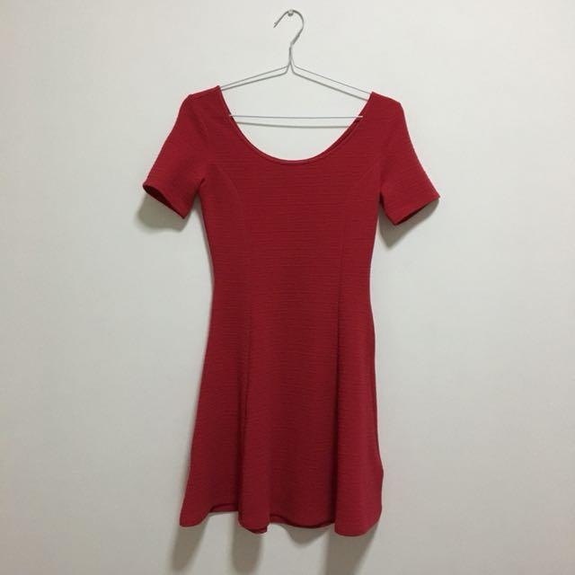 H&M Dark Pink Dress