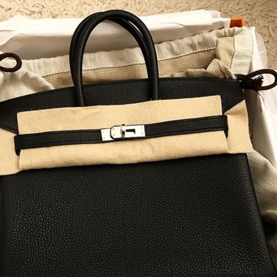 January 2018 Receipt!!!! Authentic Hermes birkin 25 black togo phw ... bbdeea016