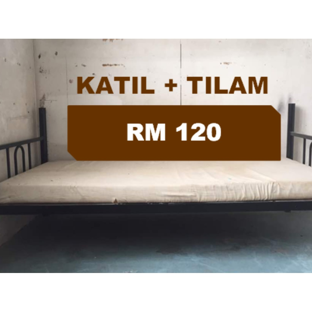 Katil Single Bed Second Hand Murah Home Furniture Others On Carou