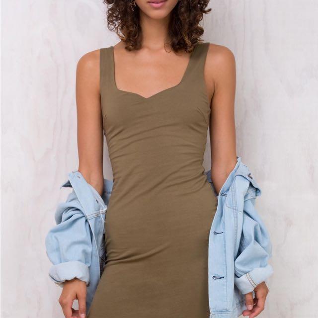 Khaki Mini Dress