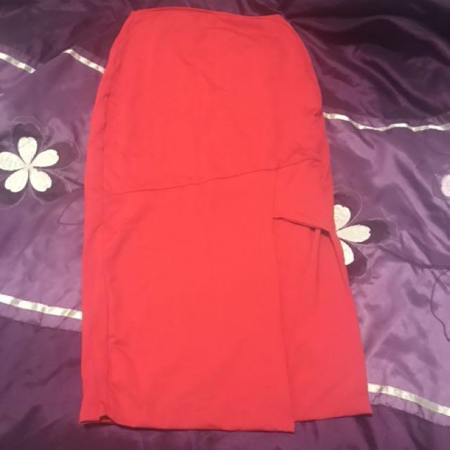 Kookai size 1 red skirt