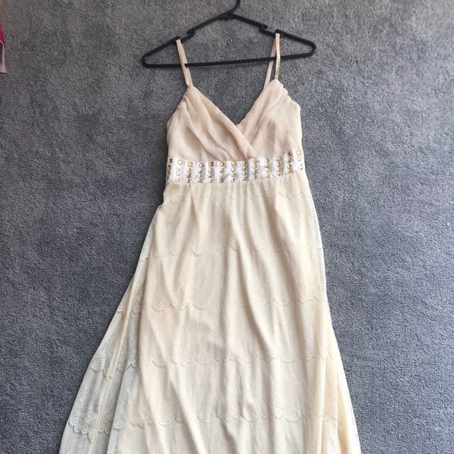 Lacey maxi dress with shirred back size 8