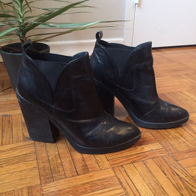 Leather TopShop Boots 8