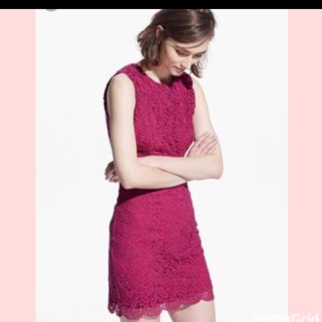 Mango crochet dress
