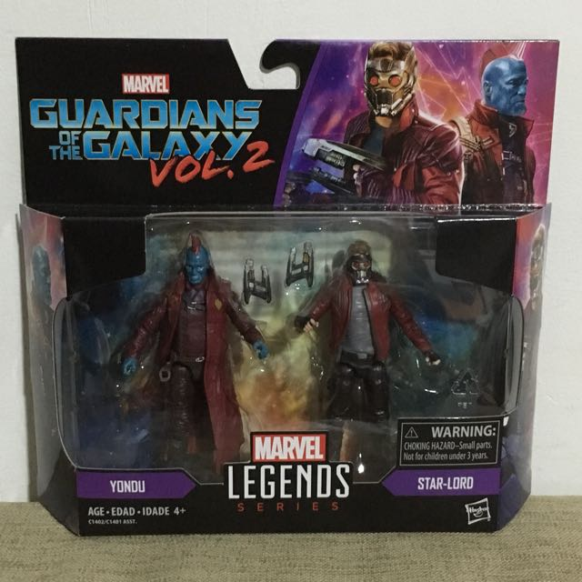 Marvel Legends Guardians of the Galaxy 2 Star Lord /& Yondu 3.75/'/' Action Figure