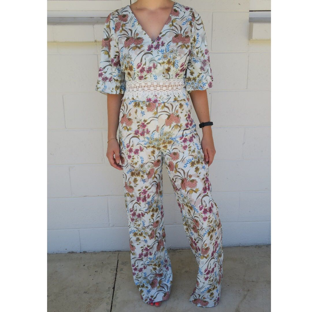 Matching Floral Set, top and pants