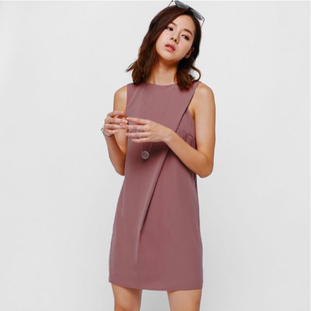334c36edf65 Mejika Foldover Dress in Dark Rose - Love Bonito
