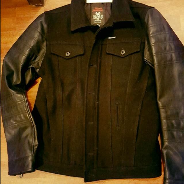 Mens Diesel Wool And Leather