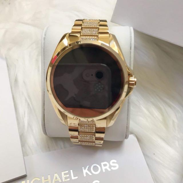 c2a6e87b50a9 Michael Kors Bradshaw Gold Smartwatch