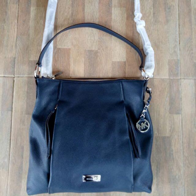 Michael Kors Corinne Large Shoulder bag - Navy