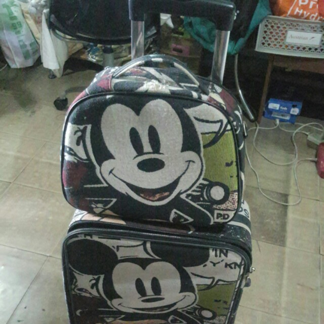mickey mouse suit case