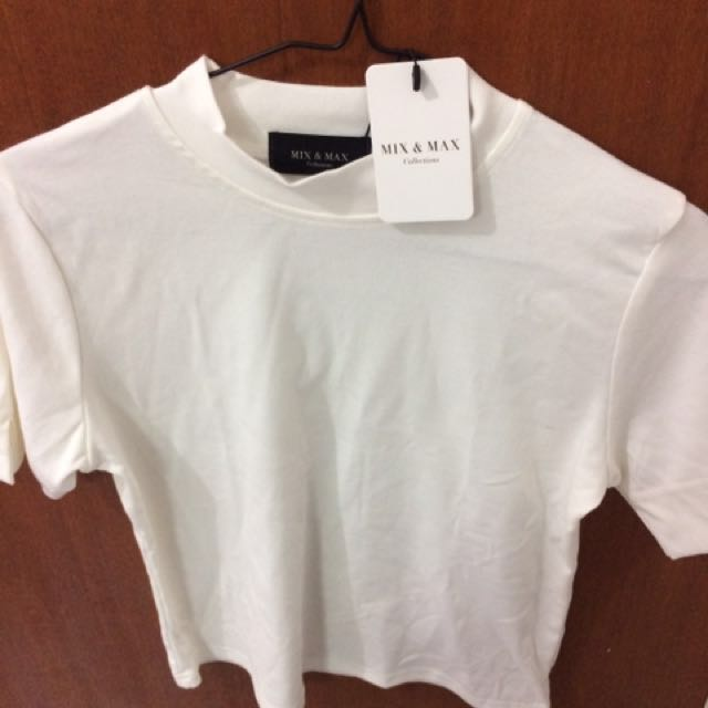 Mix and max baju turtle neck putih