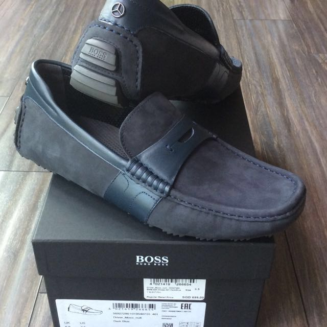 1e2671503a ️HUGO BOSS Suede Mercedes Benz Driver Shoe , Men's Fashion, Footwear on  Carousell