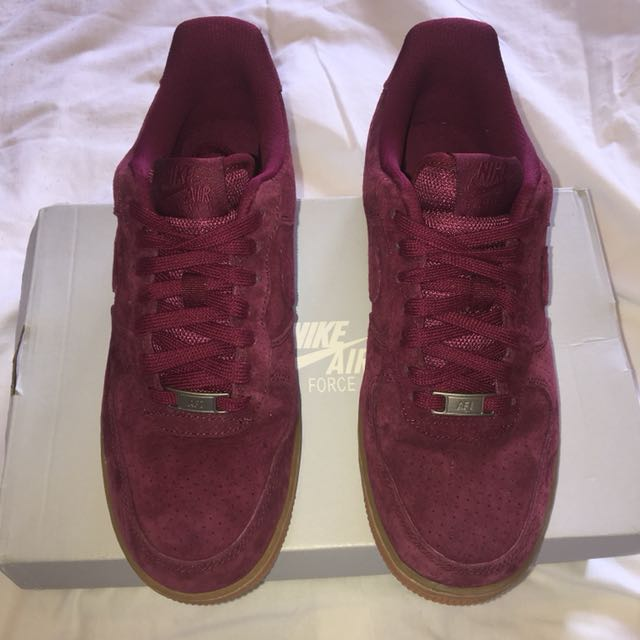 1 Carousell '07 BurgundyWomen's Nike Suede Air Force FashionShoes On WD2E9eHIY