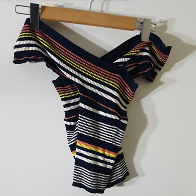 Off shoulder knit top