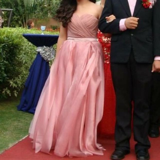 Old Rose Prom Gown for Rent/Sale, Preloved Women\'s Fashion, Clothes ...