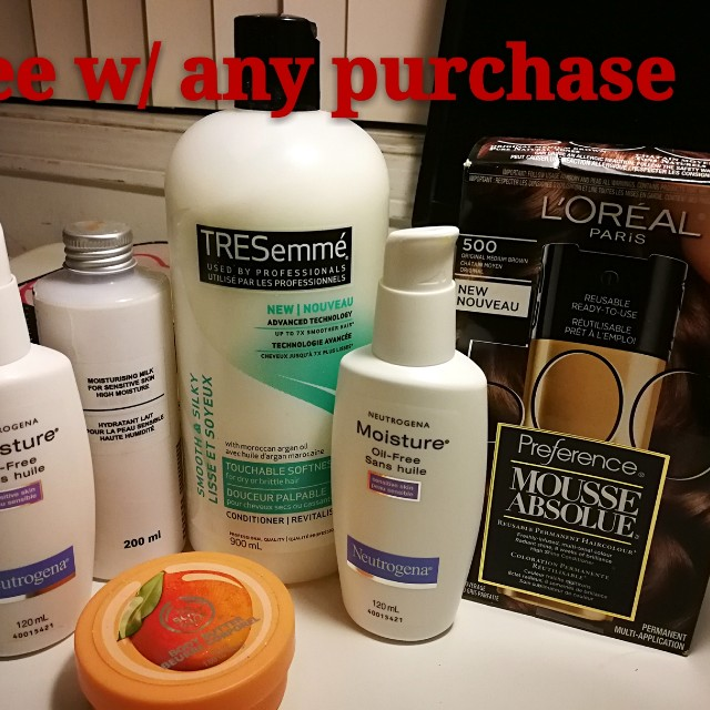 One free item with any purchase