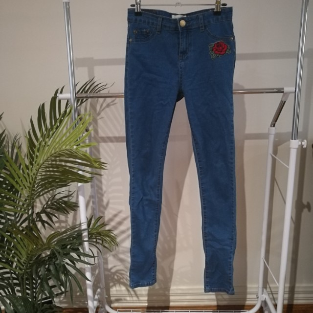 Opposite Mid Rise Skinny Jeans, Size 8