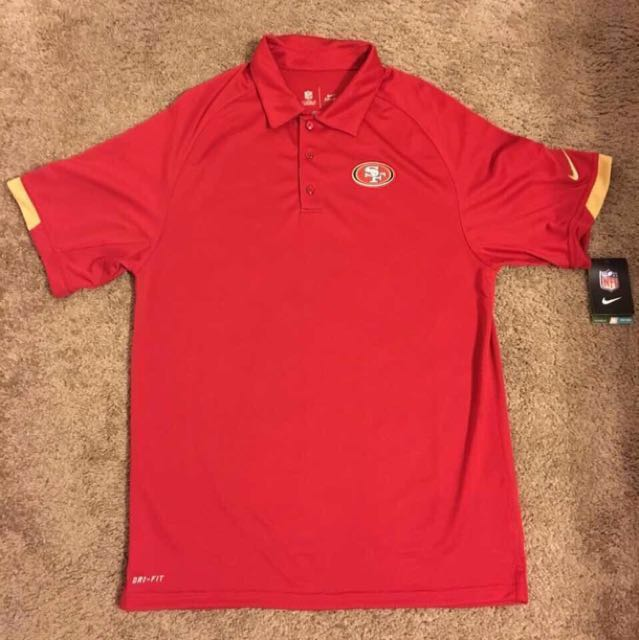 Orig. NIKE Dri Fit -  SF 49ers NFL Polo Shirt from US