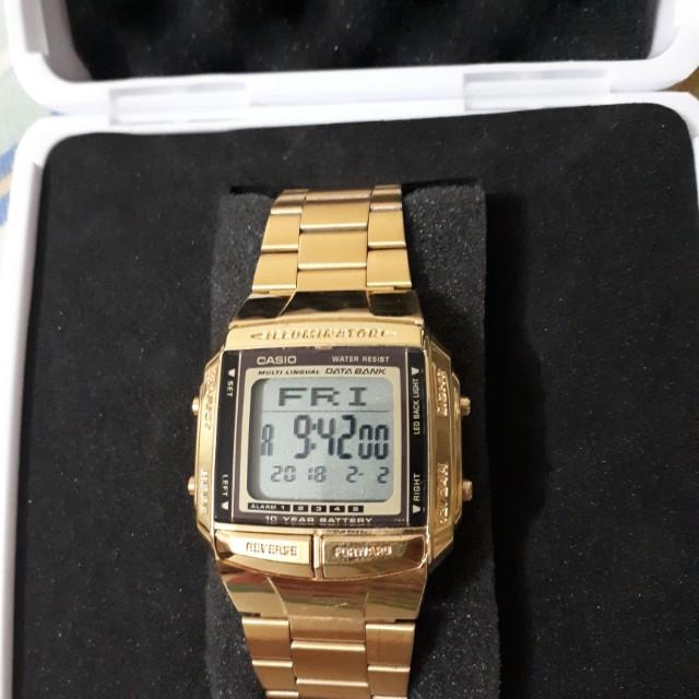 Original gold casio watch