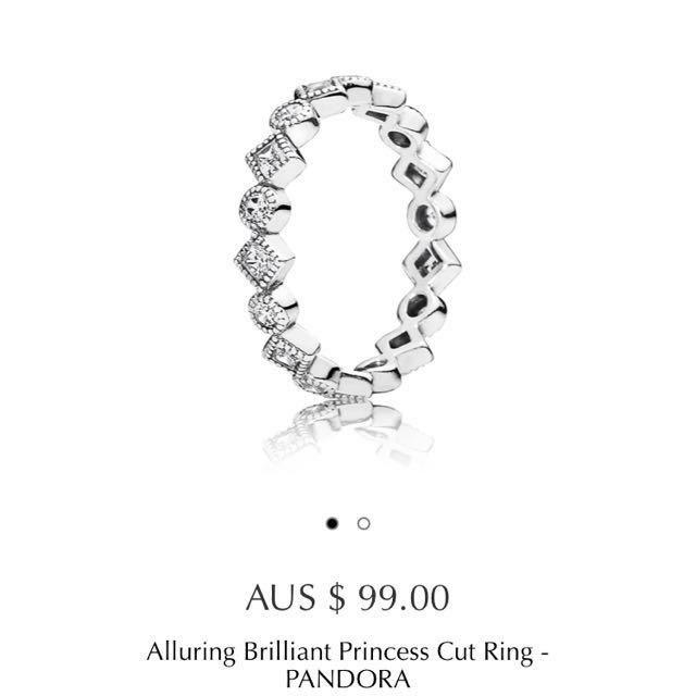 PANDORA Alluring Princess Cut Ring 52