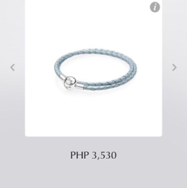 Pandora moments double woven leather bracelet D2
