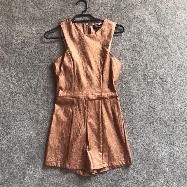 Paper Heart Copper Playsuit 8 BNWOT