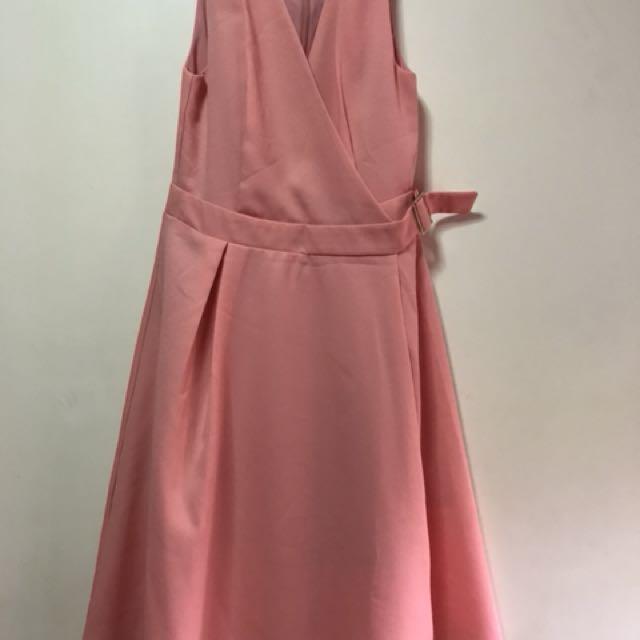 Peach dress from Zalora