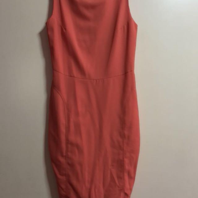 Peach dress pencil skirt