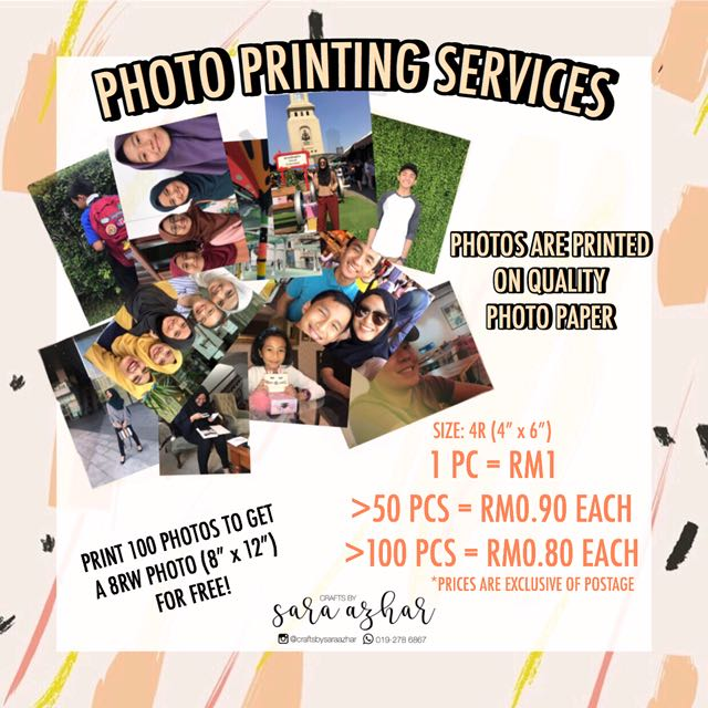 Photo printing services!