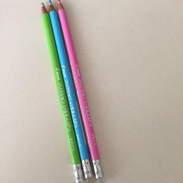 Pilot Frixion Erasable Colour Pencils