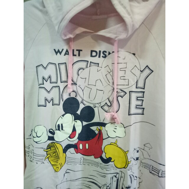 Pink Mickey Mouse sweatshirt with hood