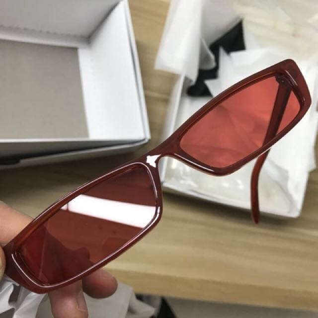 Red Narrow sunglasses